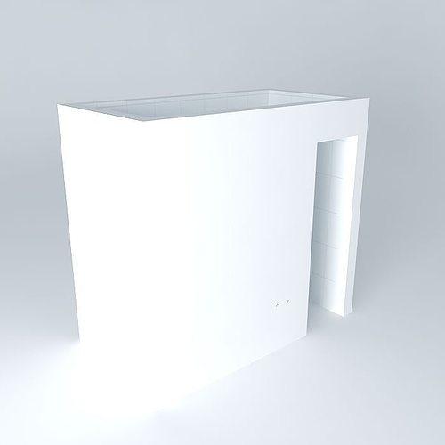 3d full bathroom 2 2m x cgtrader for Bathroom design 2m x 2m