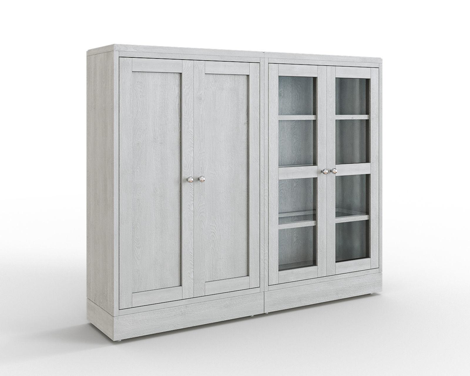 HAVSTA Storage combination w glass doors gray