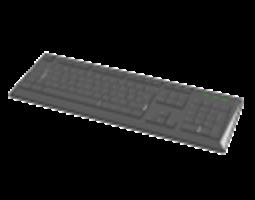 3d black keyboard