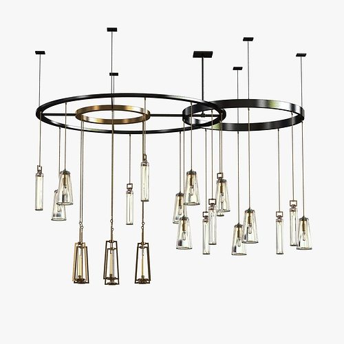 3d model holly hunt clock chandelier cgtrader aloadofball Choice Image