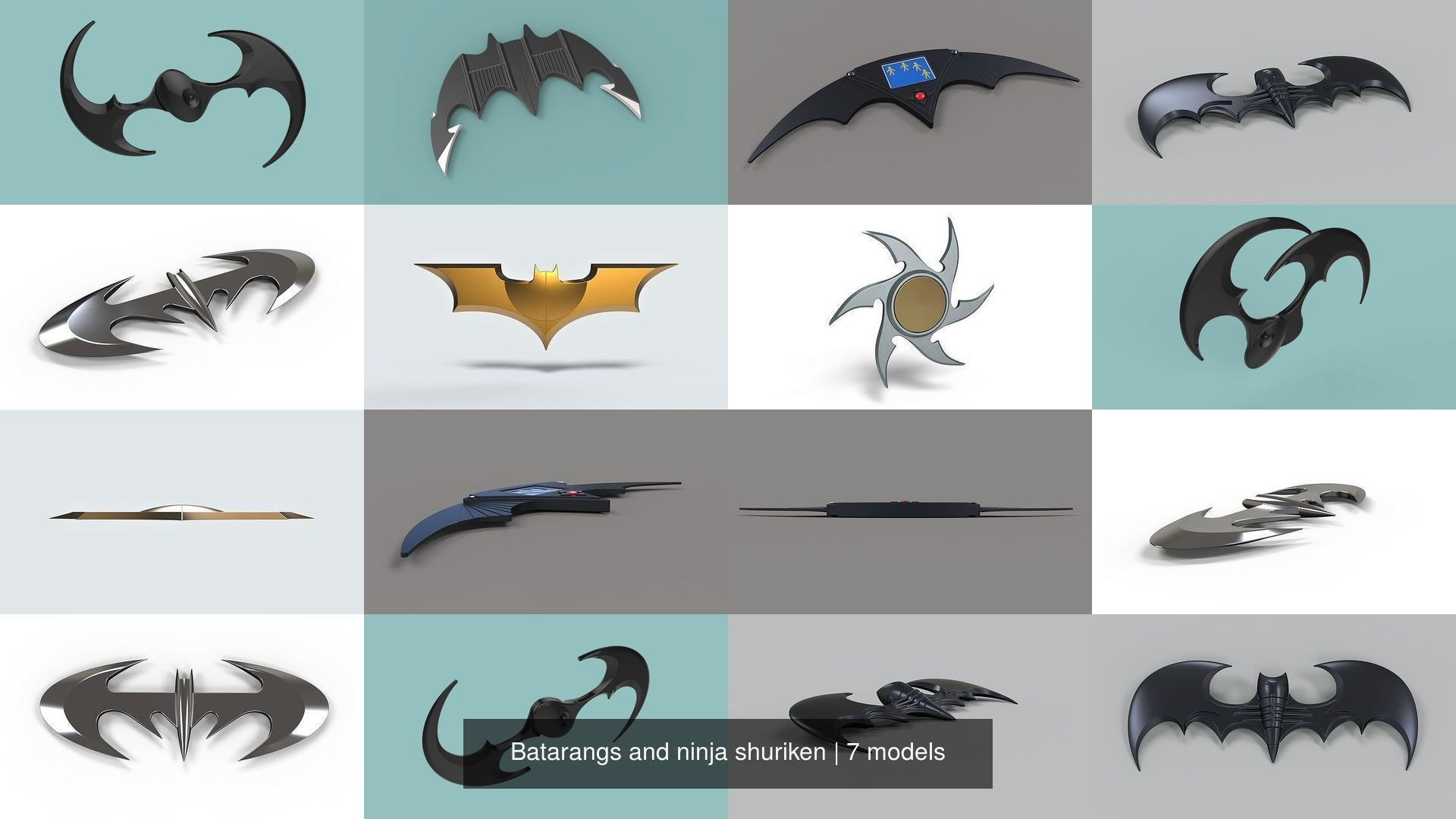 Batarangs and ninja shuriken