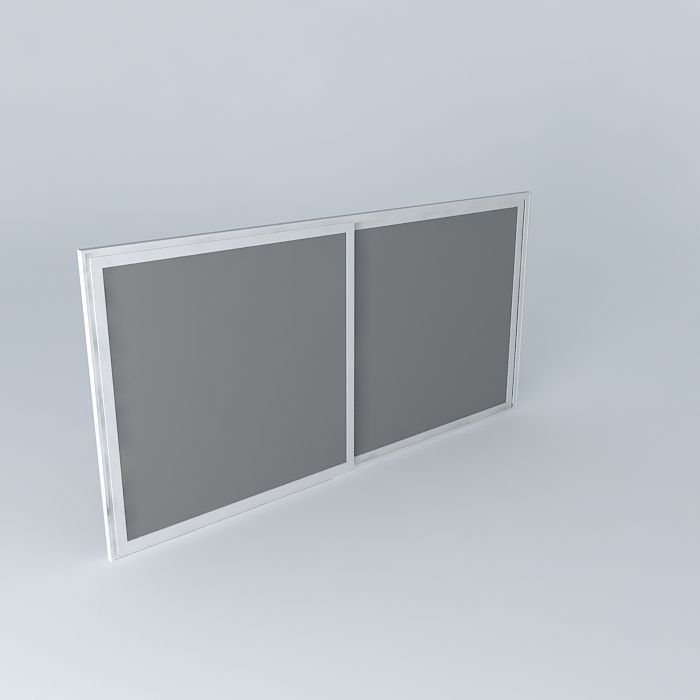 Slide Window 3d Model Max Obj 3ds Fbx Stl Skp 1