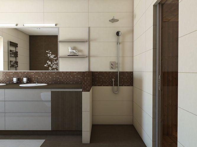 Nice Bathroom With Sauna 3d Model Max Obj 3ds Fbx Skp 2