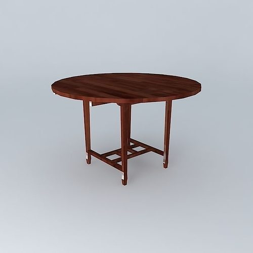 Dining table 3d wood cgtrader for Table 3d model