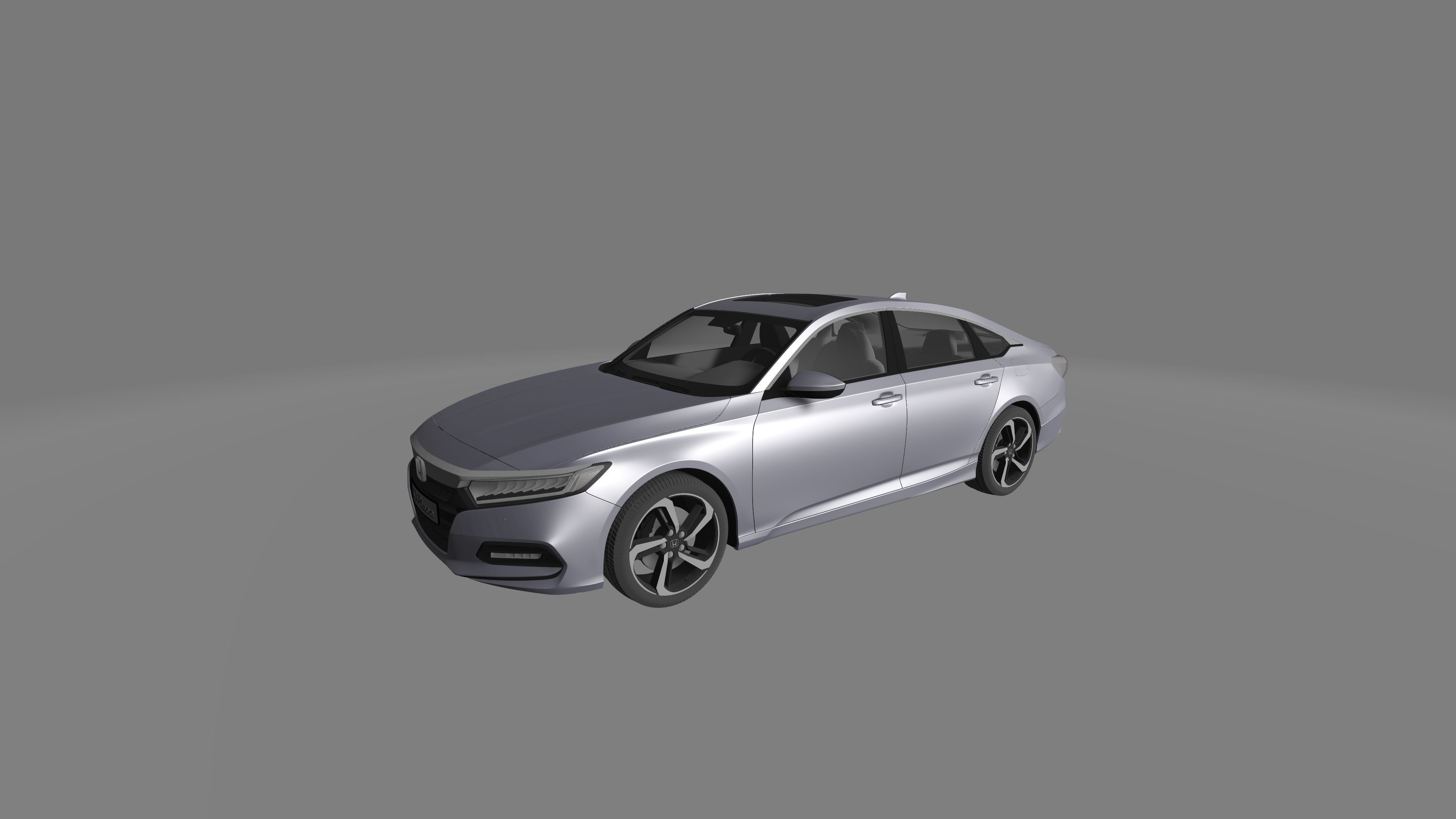 High Quality Honda Accord Sport Sedan 2018 3D Model