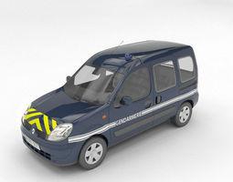 gendarmerie renault kangoo 3d model