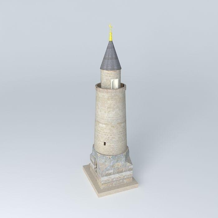 3D Smaller Minaret | CGTrader