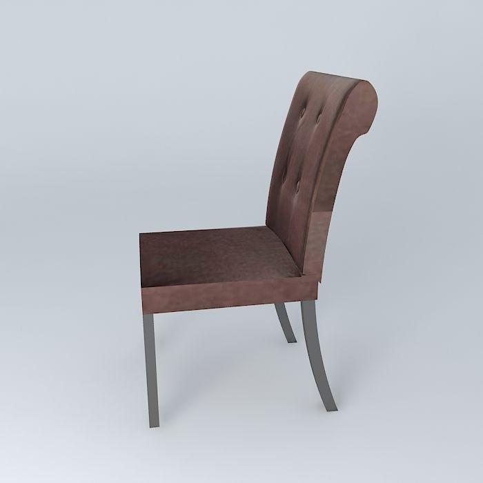 ... Taupe Velvet Boudoir Chair 3d Model Max Obj 3ds Fbx Stl Skp 3 ...