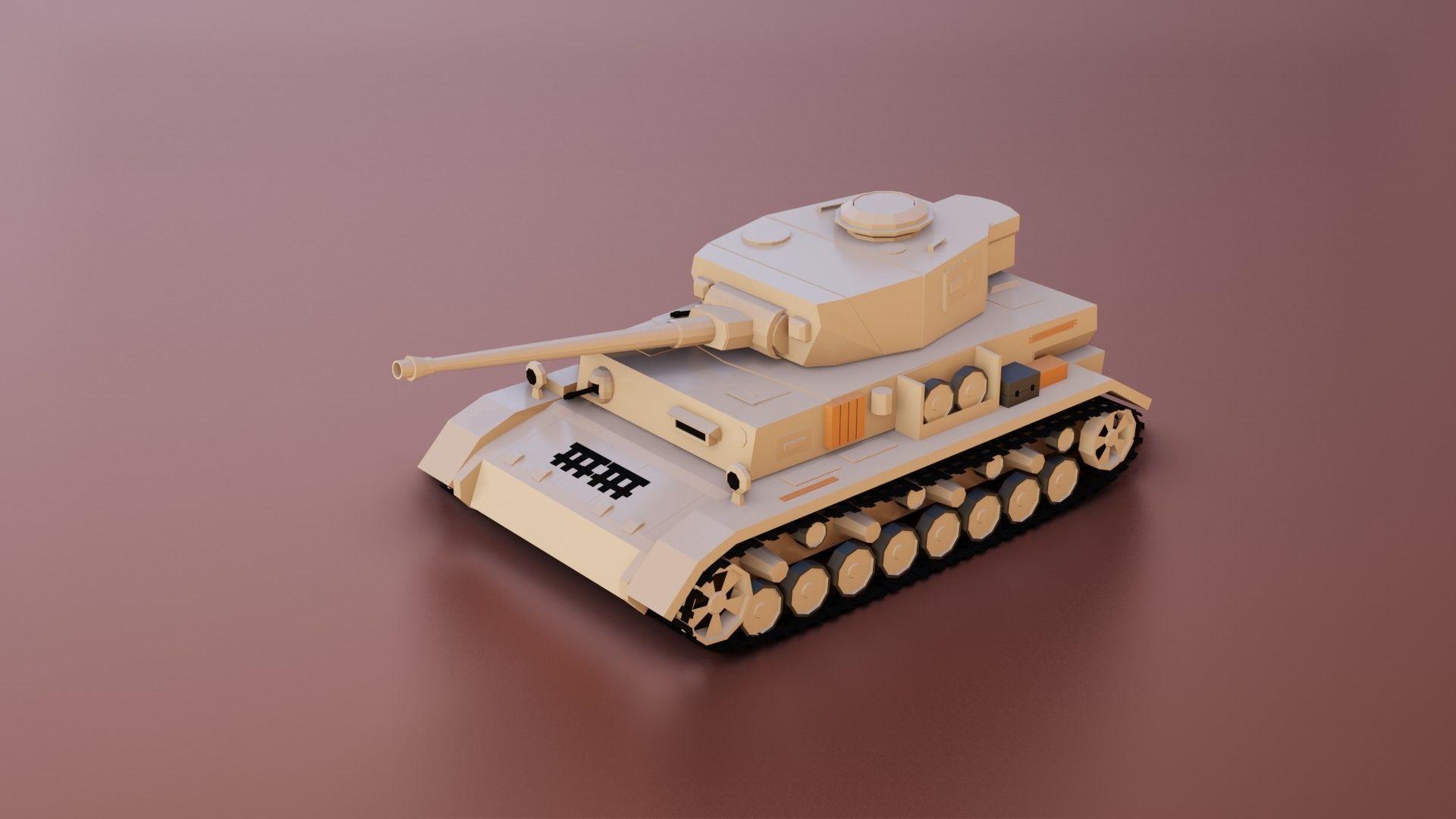 Low Poly Panzer IV Tank