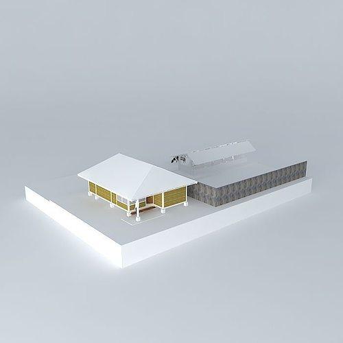 3d model animal farm cgtrader