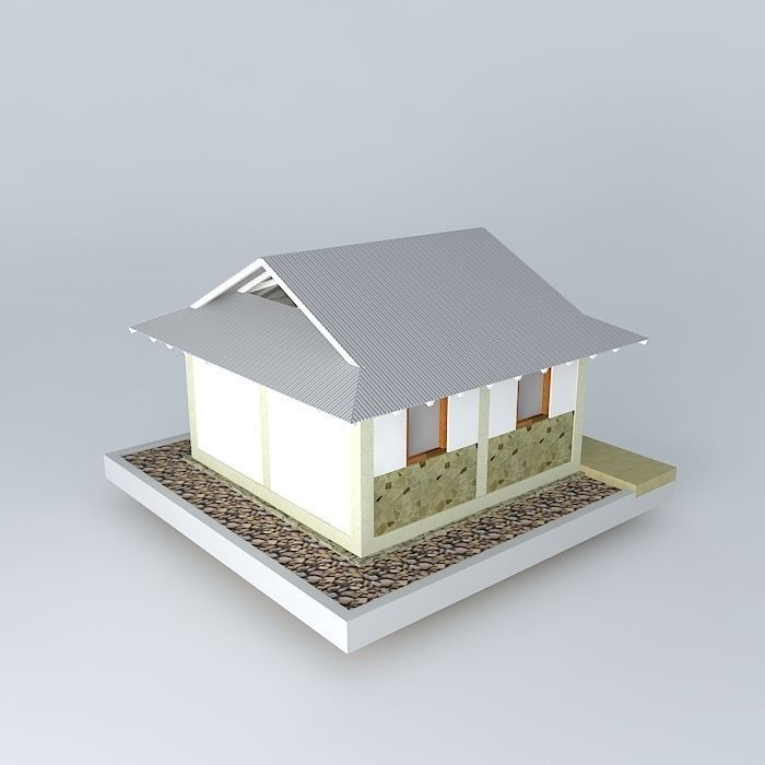 Simple House 3d Simple Cgtrader