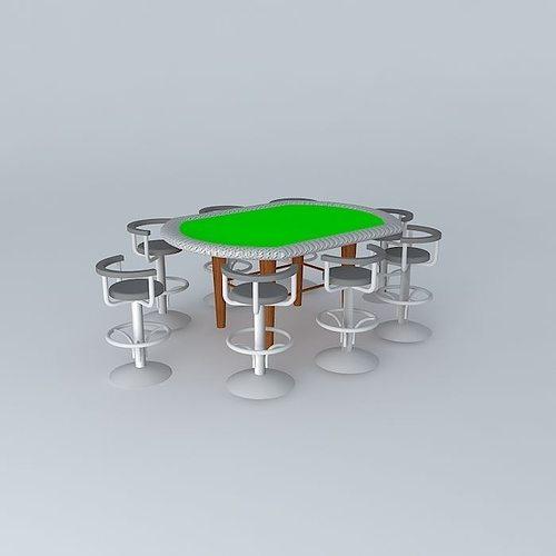 texas holdem poker table 3d model max obj 3ds fbx stl skp 1