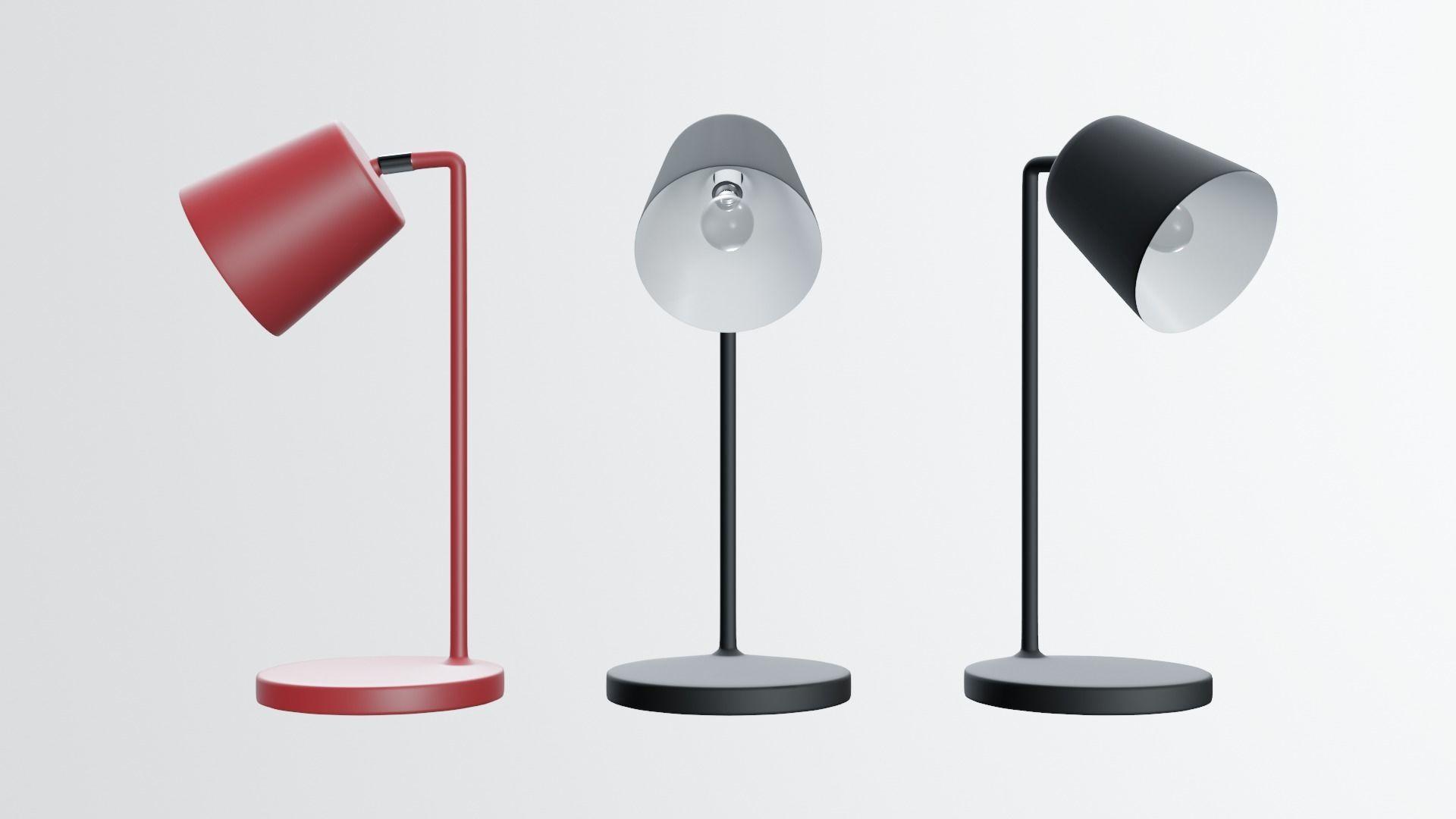 modern desk lamp in black
