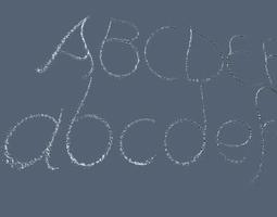 Waterjet font 3D