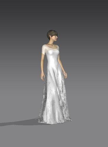 Dress Bridal CLo3d