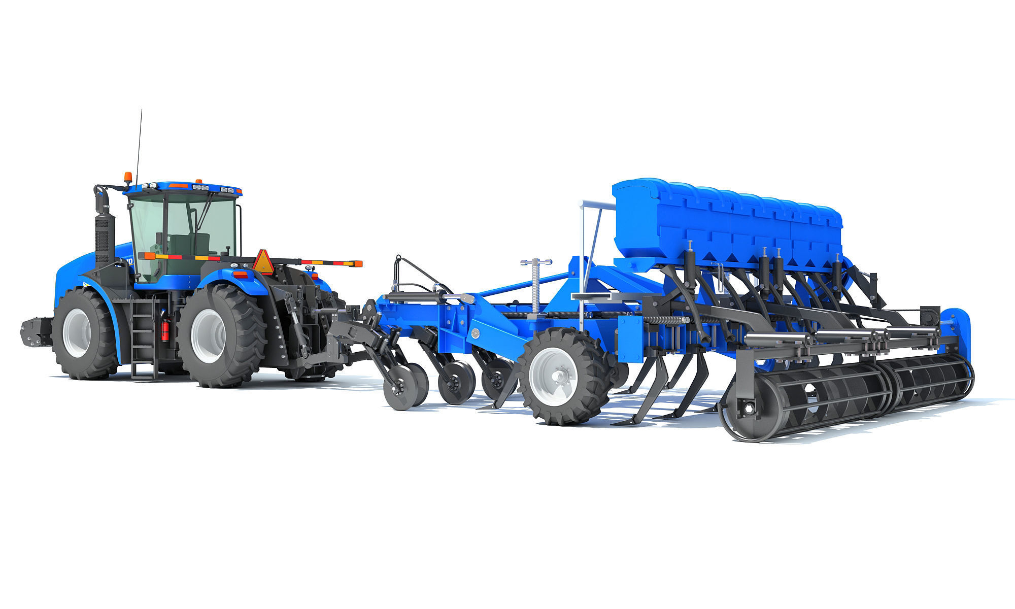 Tractor with Disc Harrow New Holland