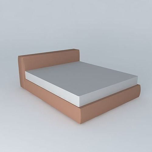 Simple bed 3d model max obj 3ds fbx stl skp Simple 3d modeling online