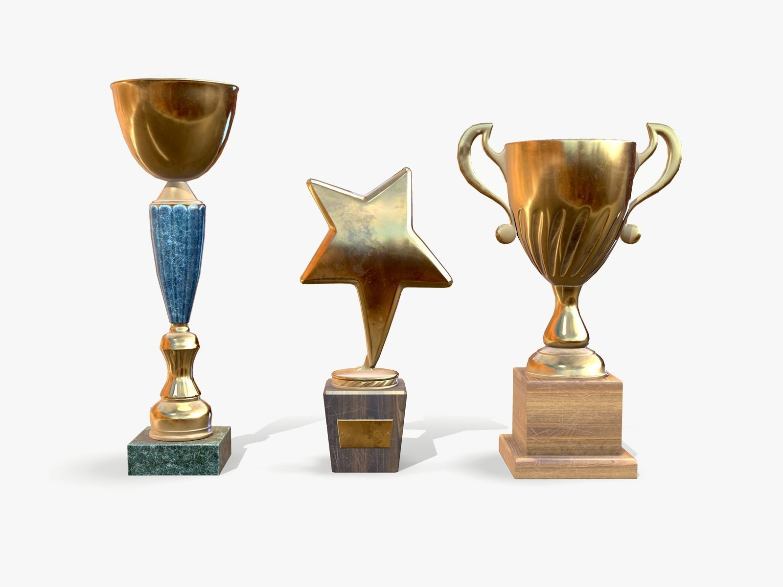 Trophy Cups lowpoly