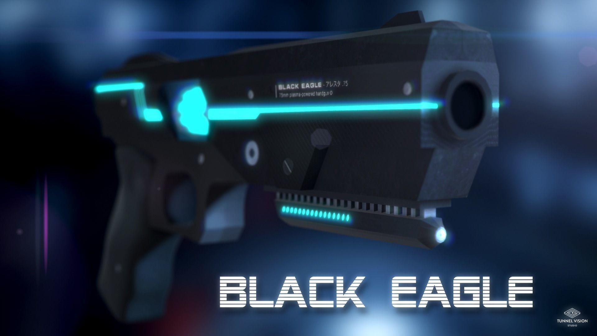 Sci-Fi Gun Black Eagle