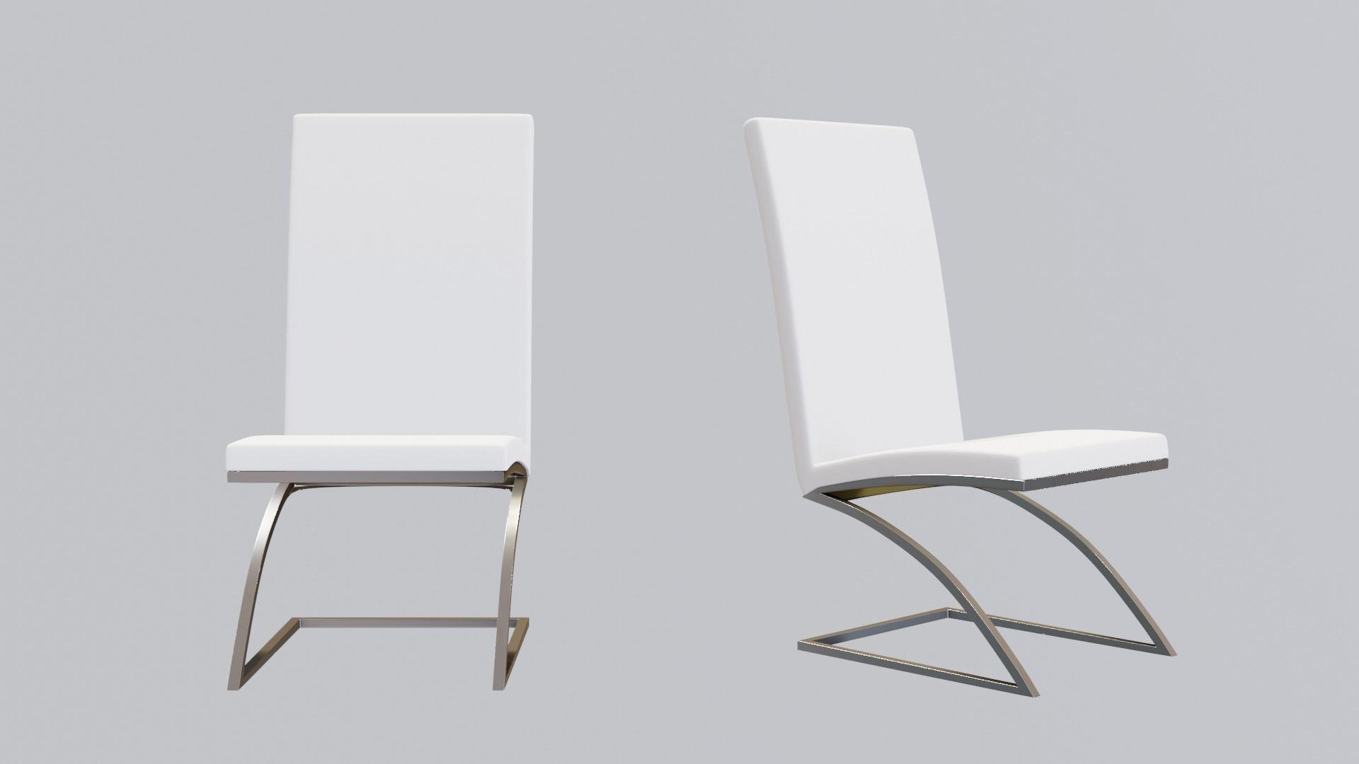 3d Asset Modern White Office Chair Cgtrader