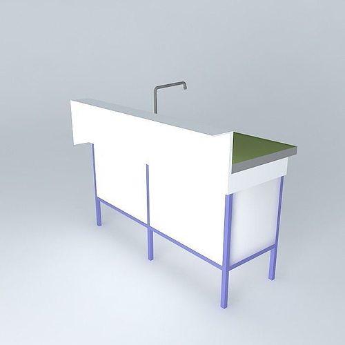 Bench sink 3d model cgtrader for Sketchup bathroom sink