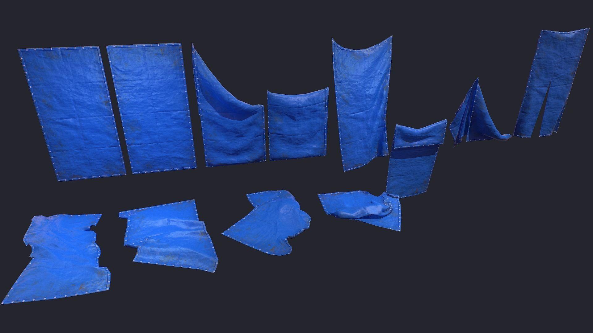 Plastic Tarp Set