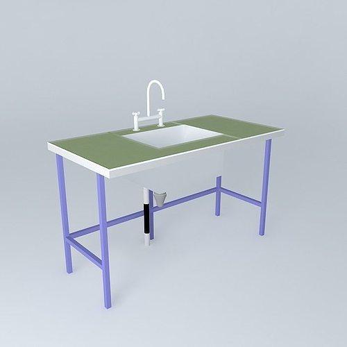 green benchtop lab 3d model max obj 3ds fbx stl skp 1
