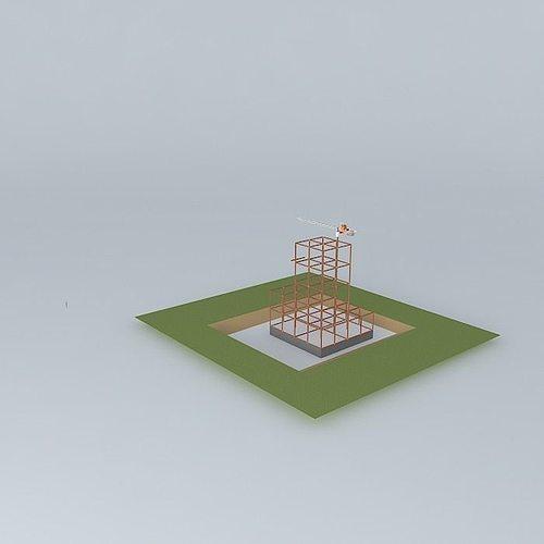 high rise construction site 3d model max obj 3ds fbx stl skp 1
