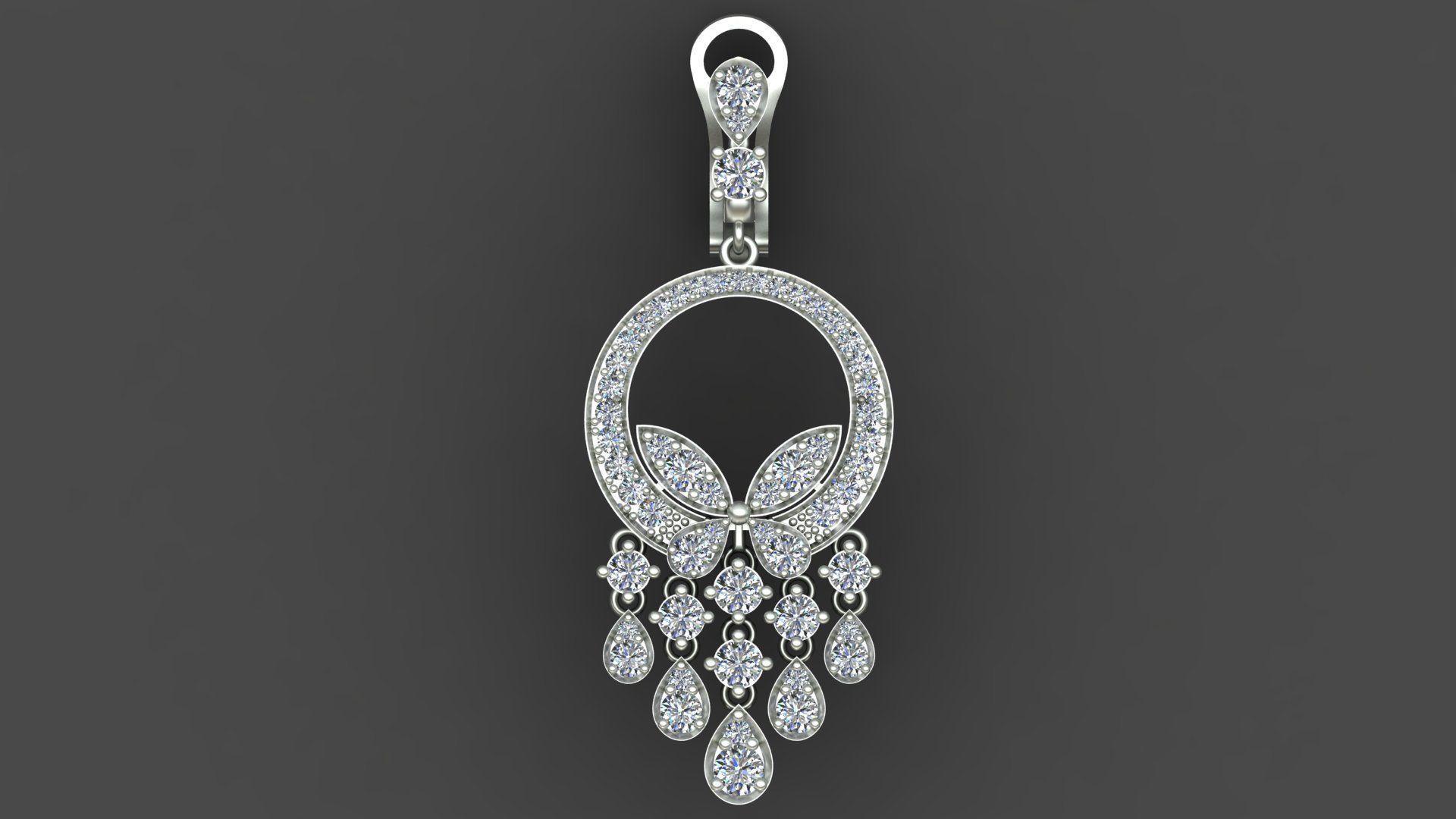 Graff Butterfly Diamond Gold Earring