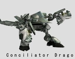 conciliator dragon animated 3d asset realtime