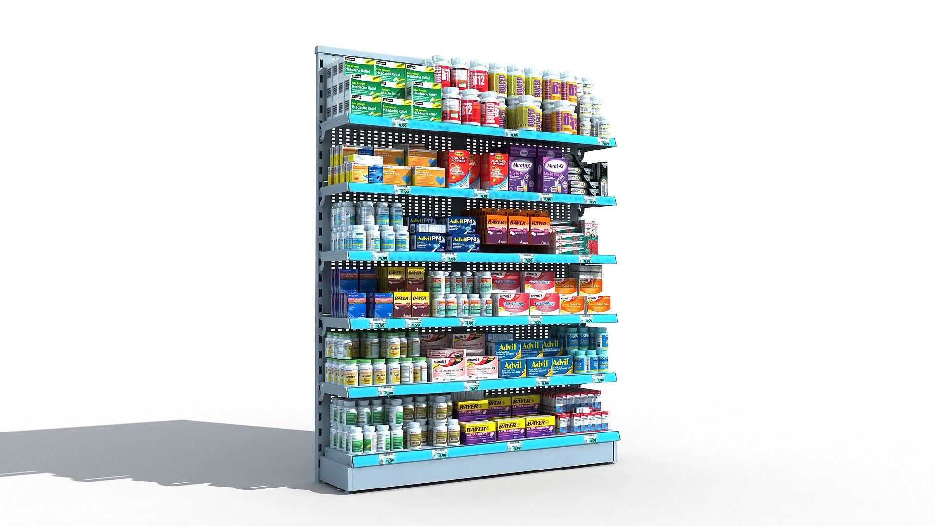 Drugstore Pharmacy Shelf