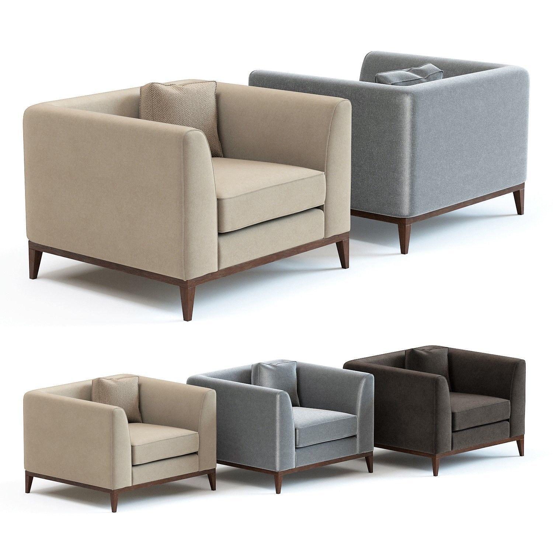 The Sofa And Chair Co Pollock Armchair 3d Model