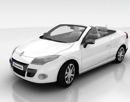 3d asset realtime renault megane coupe cabriolet with interior