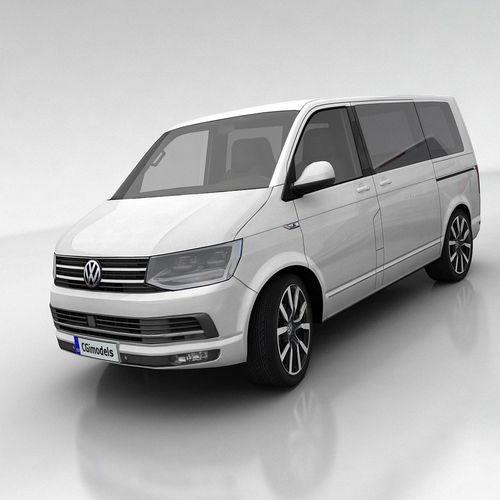 volkswagen t6 multivan 3d model low-poly max obj fbx mtl tga 1