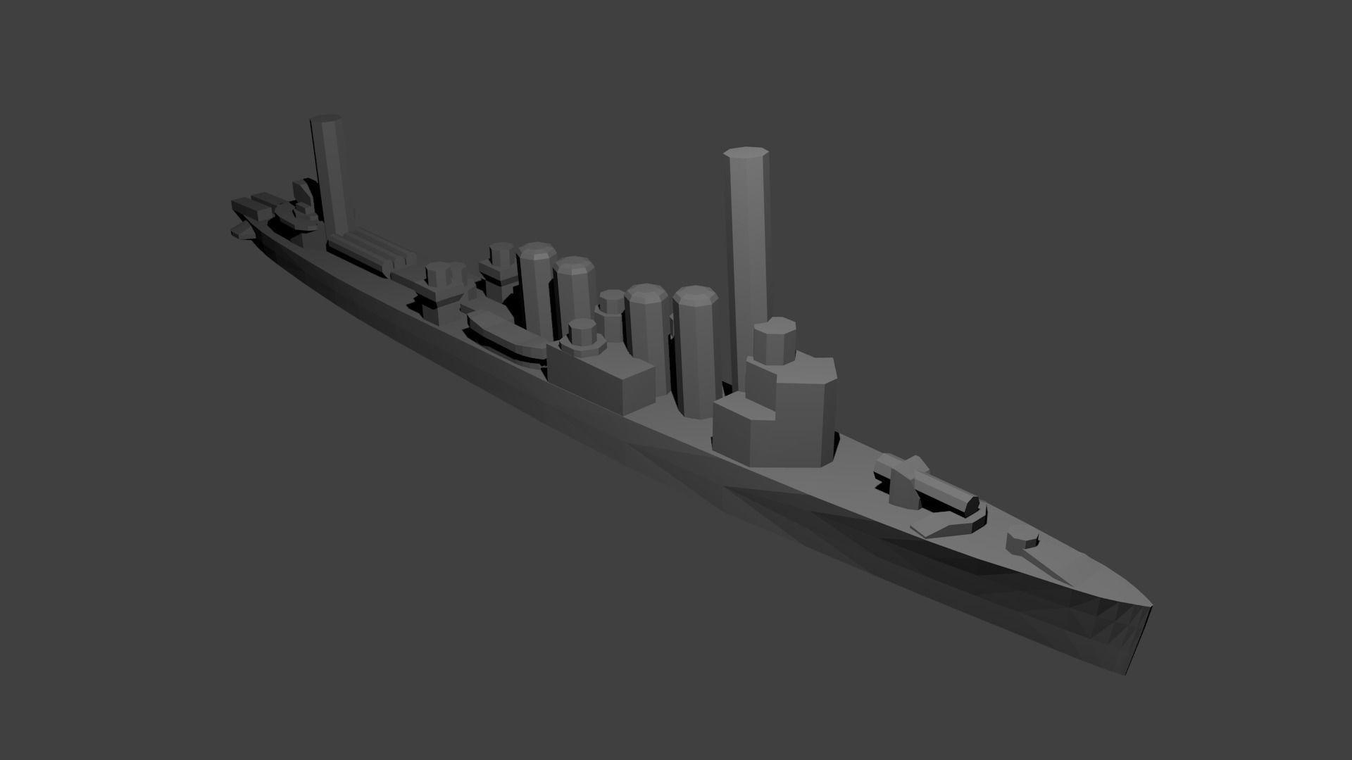 British Town Class Destroyer