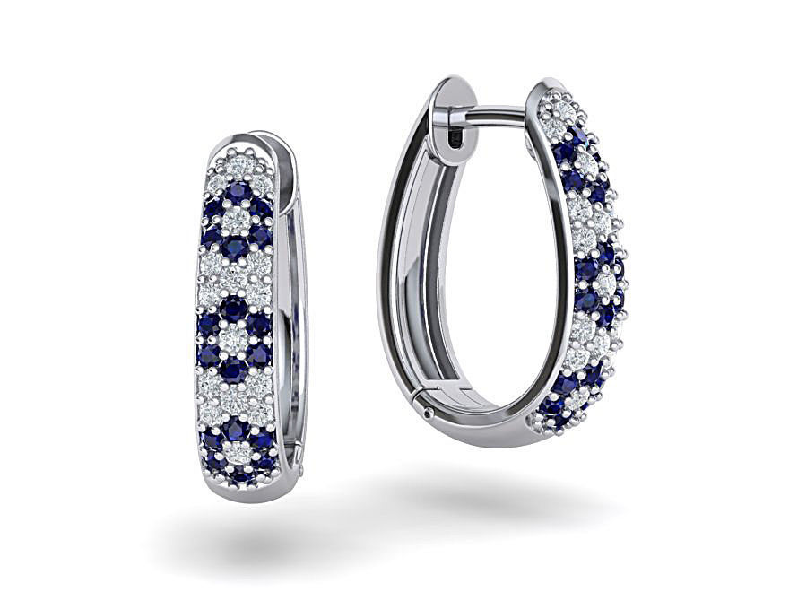 Diamond Hoop earrings 3dmodel