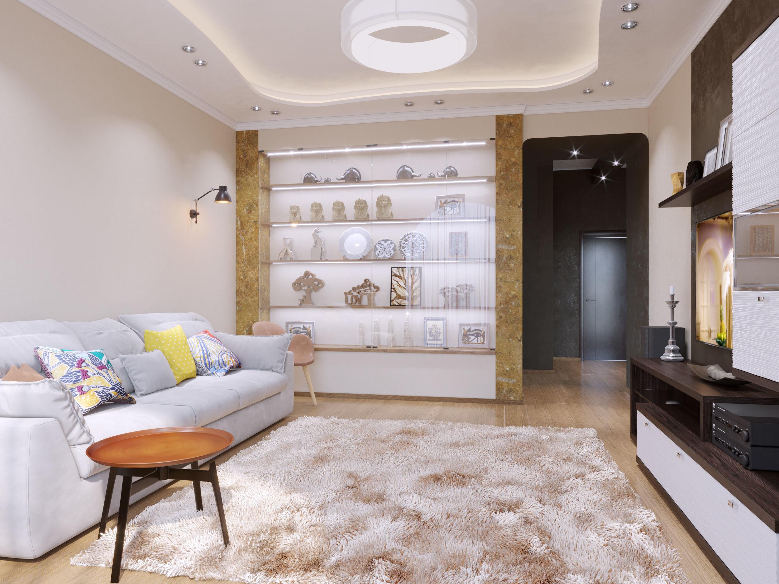 3d Model Living Room Living Room Modern Flat Mak Cgtrader
