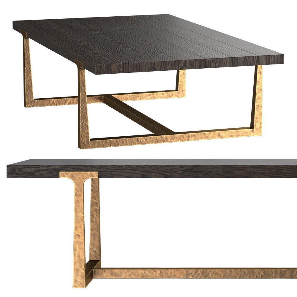 T-BRACE RECTANGULAR COFFEE TABLE 3D   CGTrader
