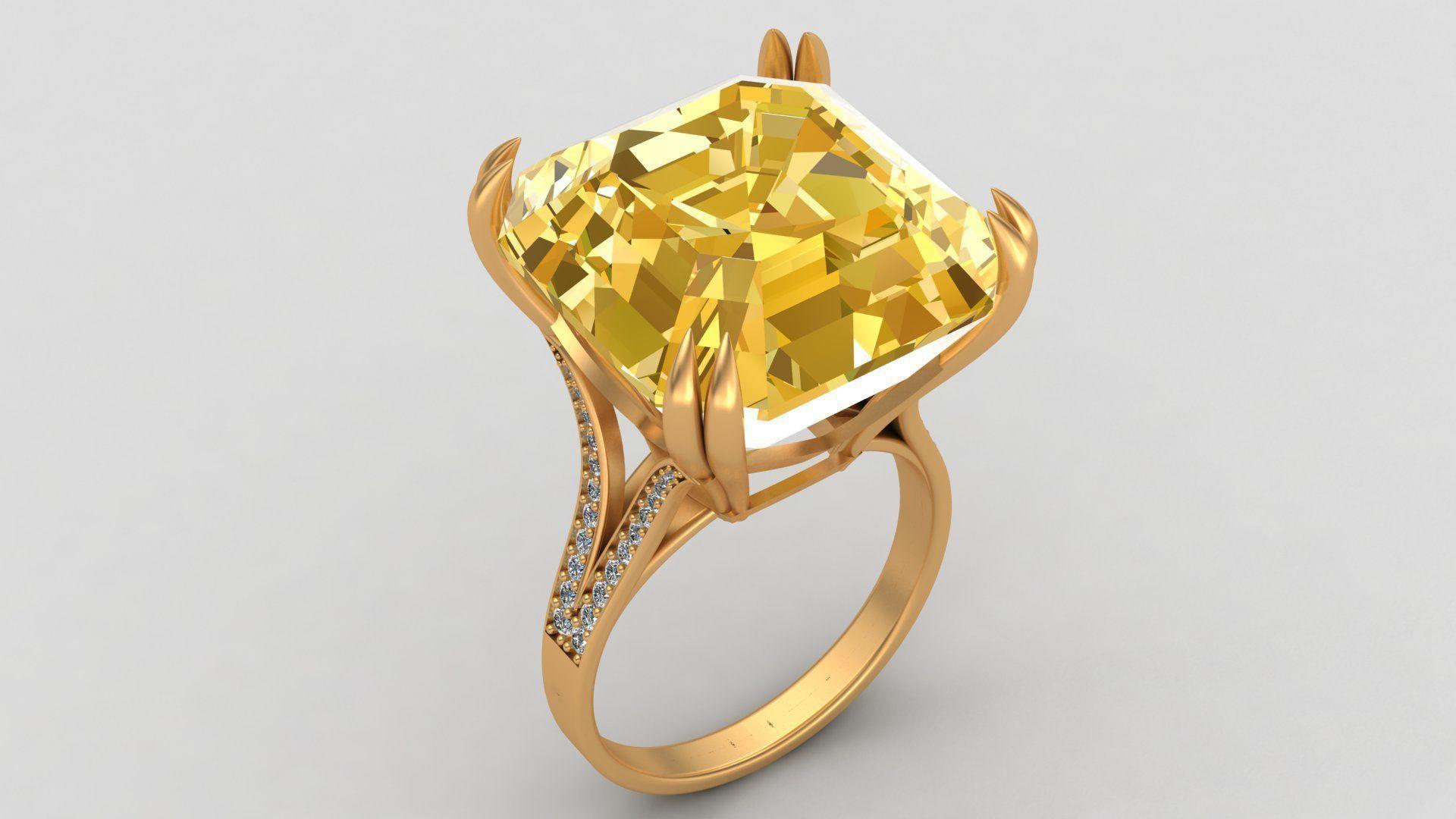 Graff Vivid Yellow Diamond Gold Ring