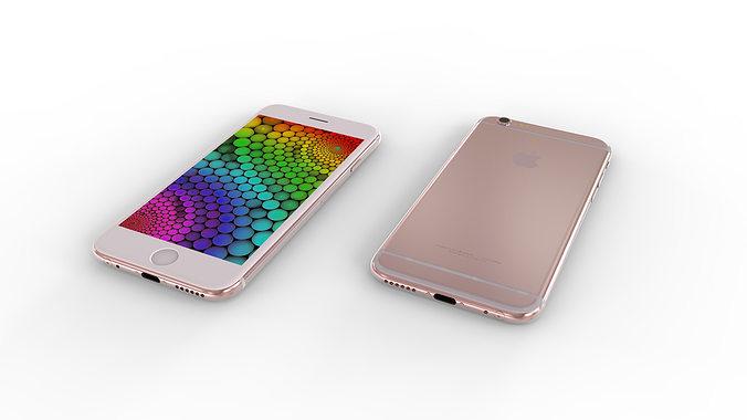 iphone 6s - original dimensions 3d model max obj mtl stl ige igs iges stp 1
