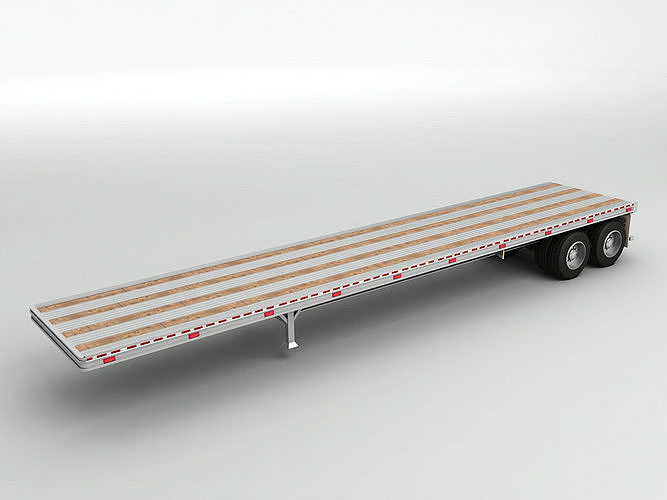 Flatbed Trailer For Semi Truck