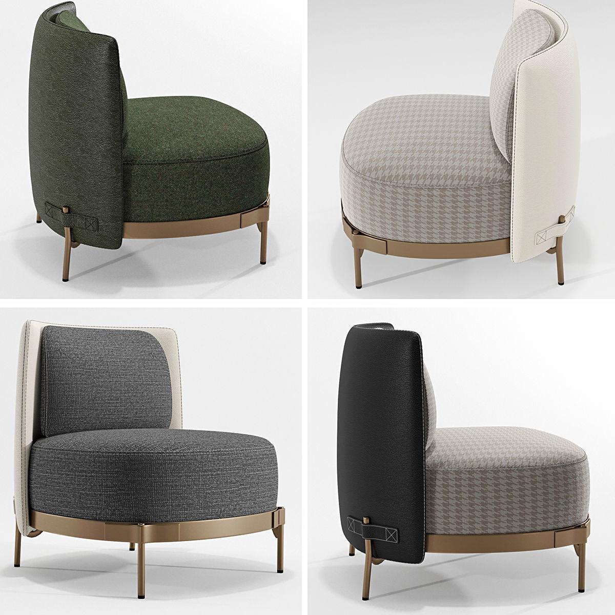 3D Minotti Tape armchairs | CGTrader