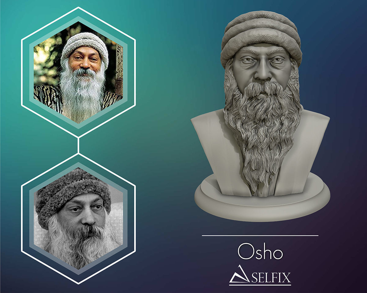 Rajneesh OSHO 3D printable sculpture