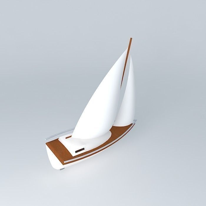 My Sailboat 3D model | CGTrader