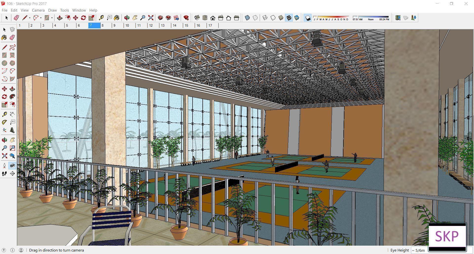 Sketchup Sport building 106