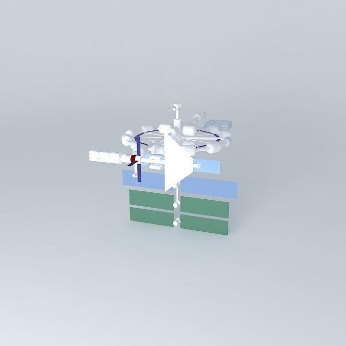 Icarus space station free 3d model max obj 3ds fbx stl skp for Space station 13 3d