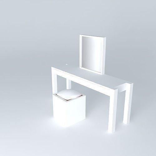 white vanity table 3d model max obj 3ds fbx stl skp 1