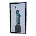 3d Model Statue Of Liberty Frame Cgtrader