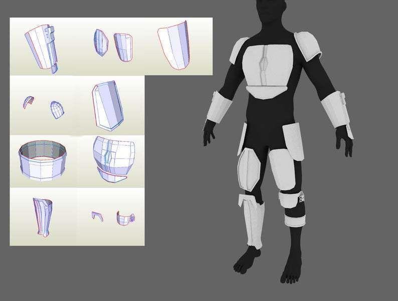 The Mandalorian 2019 armor Pepakura PDO PDF