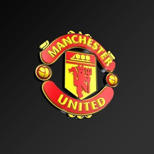 Manchester United Football Club Fc 3d Logo Low Poly